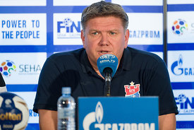 Sergey Bebeshko at the opening press conference  during the Final Tournament - Final Four - SEHA - Gazprom league, Skopje, 12.04.2018, Mandatory Credit ©SEHA/ Sasa Pahic Szabo