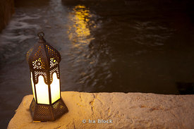 A lamp at Qasr Al Sarab hotel.