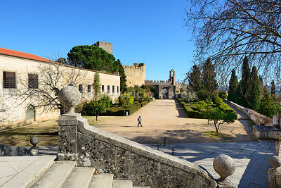 Knights's Templar castle. Convent of Christ, a UNESCO World Heritage Site. Tomar, Portugal (MR)