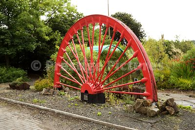 Pithead Wheel Standing as a Colliery Monument