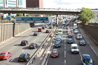Traffic Congestion on the M8 Through Glasgow