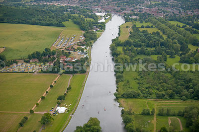 Aerial view of Henley on Thames