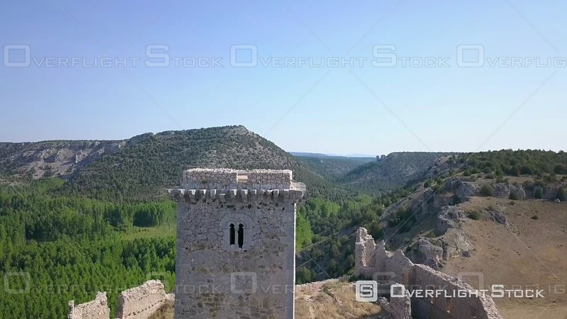 Medieval Defensive Construction Located in Ucero Built 12th Century. Castle of Ucero Spain