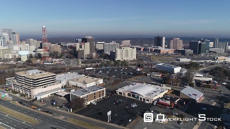Tysons, Virginia, USA. Pan from left to right from Tysons Corner skyline to mall