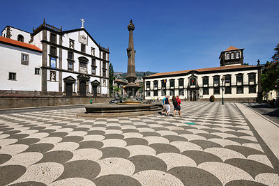 The Town Hall and São João Evangelista Church (17th century), in the historical center of Funchal. Madeira