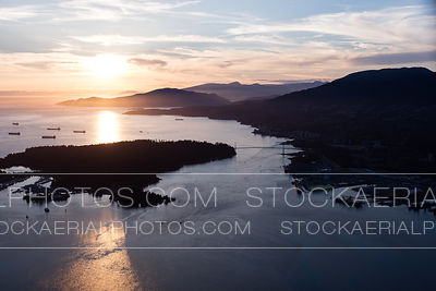 Burrard Inlet at Sunset