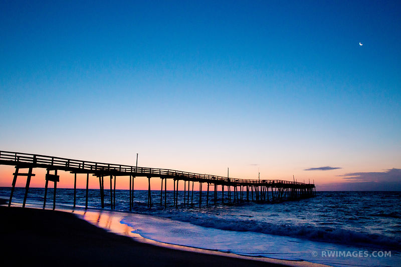 FISHING PIER HATTERAS ISLAND OUTER BANKS BEFORE SUNRISE