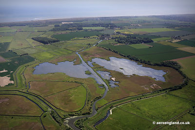 aerial photo of Martham Broad on the Norfolk Broads England UK