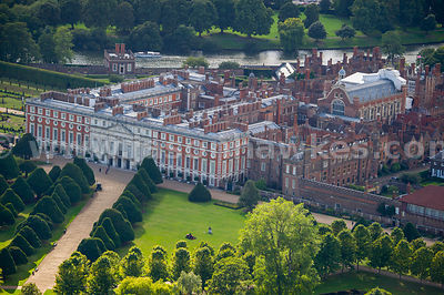 Aerial view of Hampton Court Palace