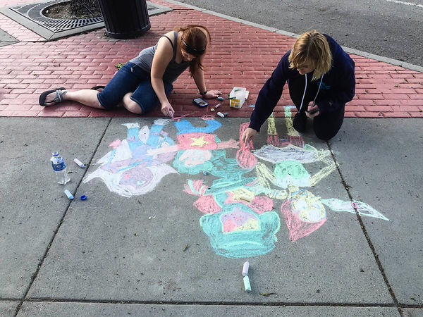 Chalk Bombing!  photos