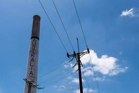 A smoke stack from an old factory in Australia, Cuba, which served Fides Castro's  headquarters during the Bay of Pig invasion.