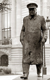 La statue de Winston Churchill Paris 07/07