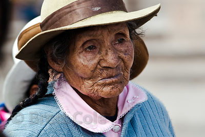 An elderly woman in Cusco, Peru