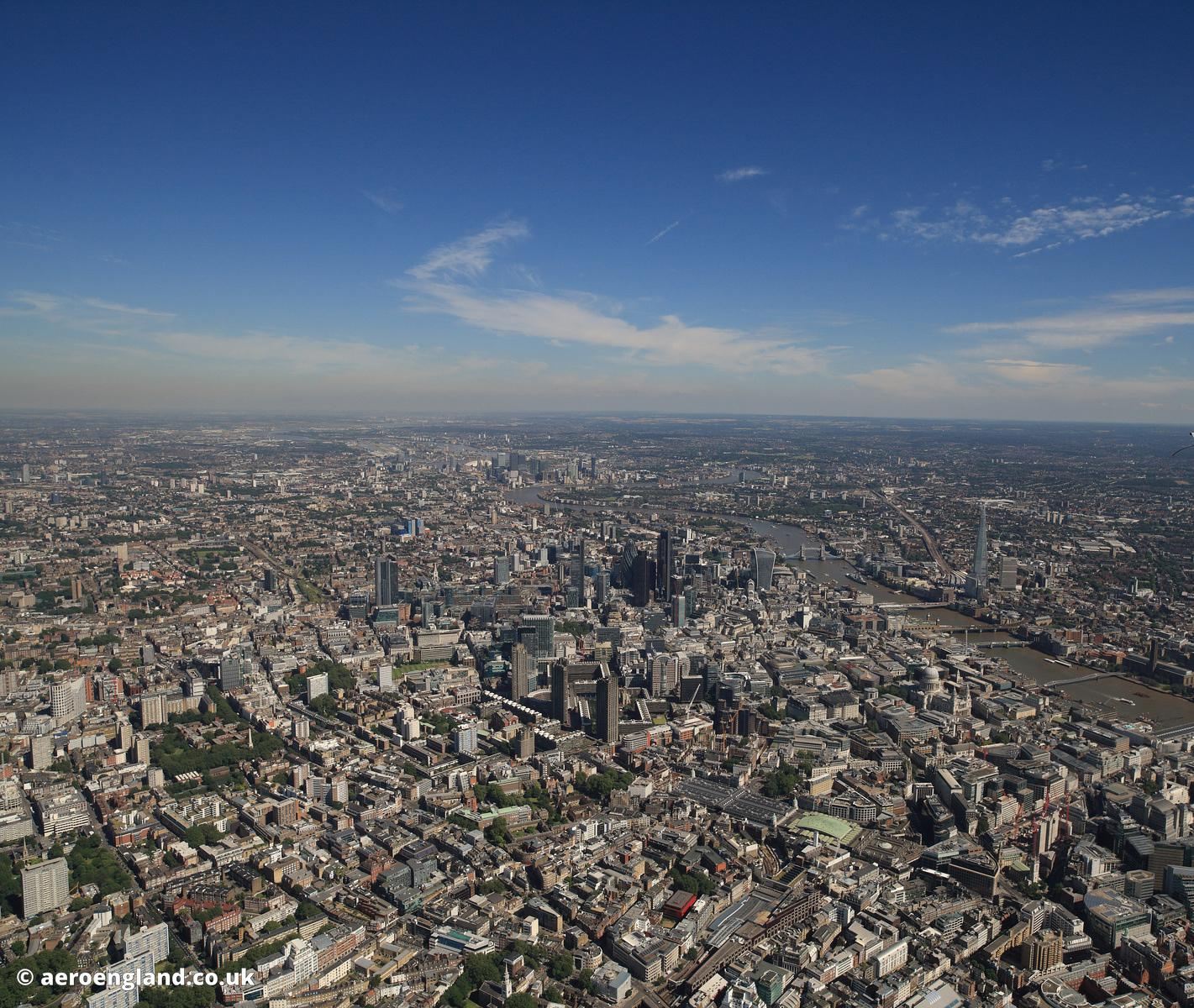 square photograph of the square mile -  City of London