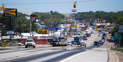 Truck Stock Photo: Oversize load in Clarendon, Texas