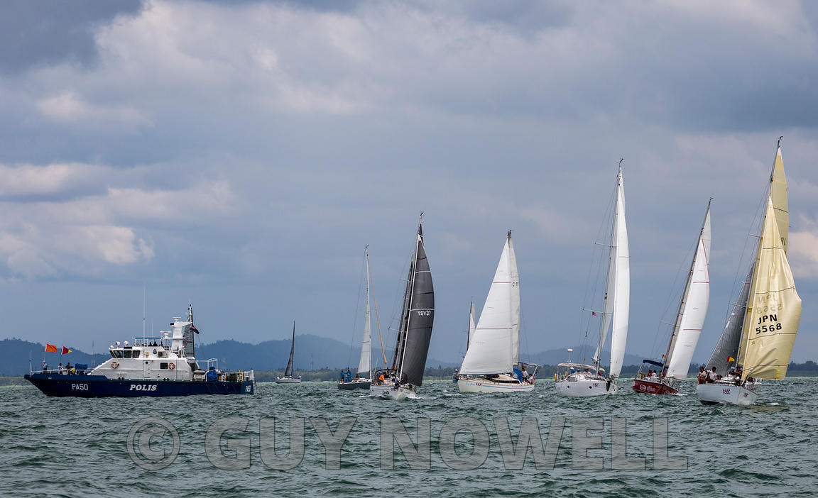Class 5 start. 2017 Raja Muda Selangor International Regatta.
