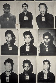 Photographs of prisioners at Tuol Sleng