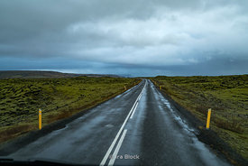 A road along on Iceland's south coast.