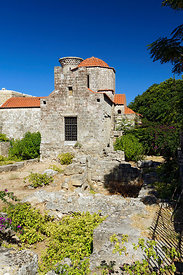 15th Century, Byzantine, Holy Trinity Church,  Rhodes Old Town, Rhodes, Dodecanese islands, Greece.