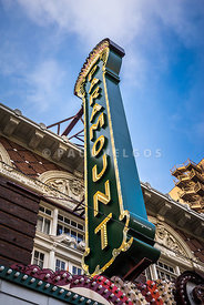 Paramount Theatre Sign Austin Texas