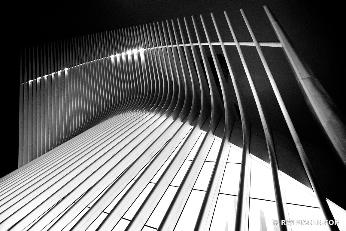 oculus world trade center manhattan modern architecture new york city new york black and white horizontal