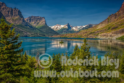 Wild Goose Island on Saint Mary Lake, Glacier National Park