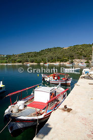 Fishing boat Atherinos Bay, Meganisi, Lefkas, Ionian Islands, Greece.
