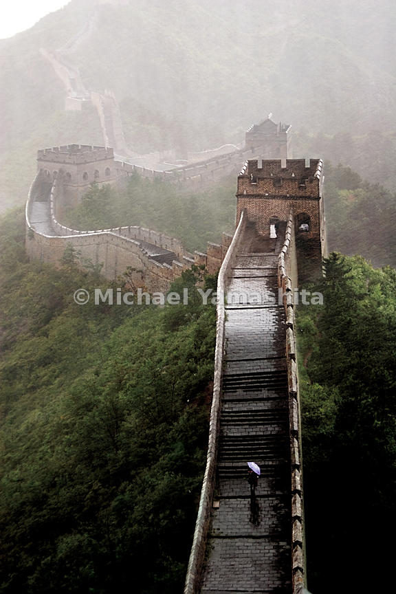 The section of the Great Wall in Jinshanling, built by Ming Emperor Zhu Di is the largest single construction project in the world.