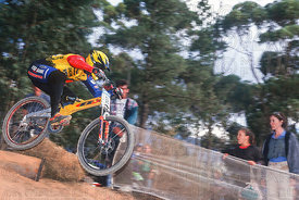 BAS DE BEVER STELLENBOSCH, SOUTH AFRICA. GRUNDIG DOWNHILL WORLD CUP 1997