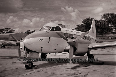 RMAF visitor | deHavilland Dove FM1052 | RAF Changi February 1963