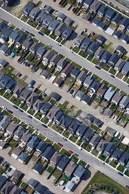 Rows of Suburb Style Houses