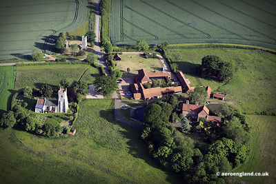 aerial photograph of Shotesham St Mary Norfolk England UK