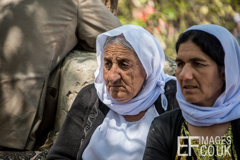 Yezidi Women At Red Wednesday, Or Yezidi New Year, Celebrations In Lalish, Iraq. 19th April 2017
