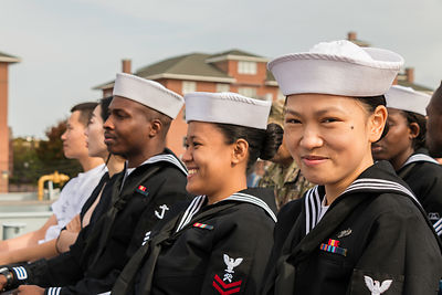 30 Military Servicemembers become US Citizens - USS Wisconsin photos