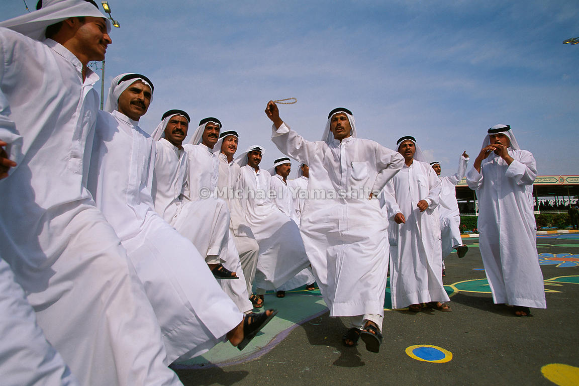 Dervishes, who ascribe to Sufism, a form of Islamic mysticism, incorporate trancelike dances into their rituals performed at celebrations.  Tikrit, Iraq