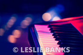 Electronic keyboard on stage