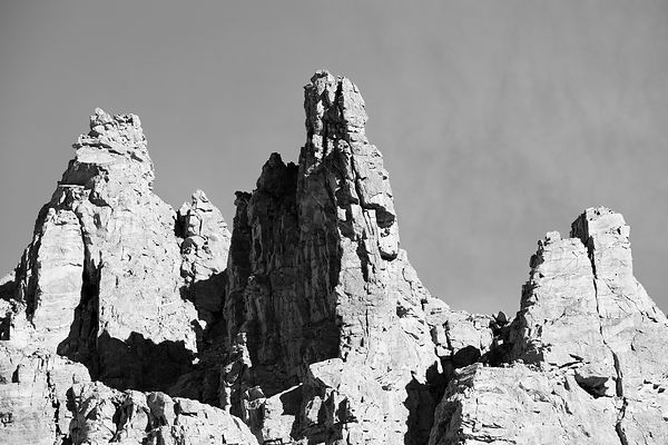 ROCK FORMATIONS SKY POND TRAIL ROCKY MOUNTAIN NATIONAL PARK COLORADO BLACK AND WHITE