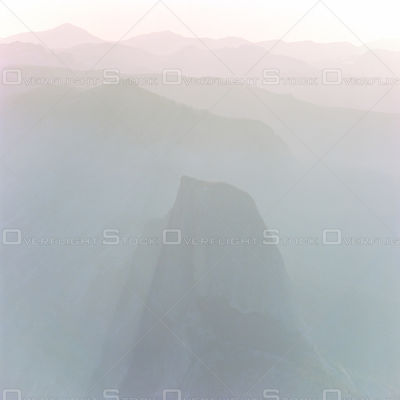 Half Dome, Yosemite Valley California  in a Hazy Sunrise
