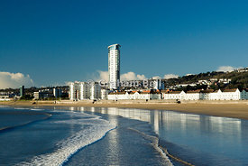 swansea seafront and meridian tower, swansea south wales