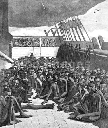 Africans aboard a slave ship in 1860