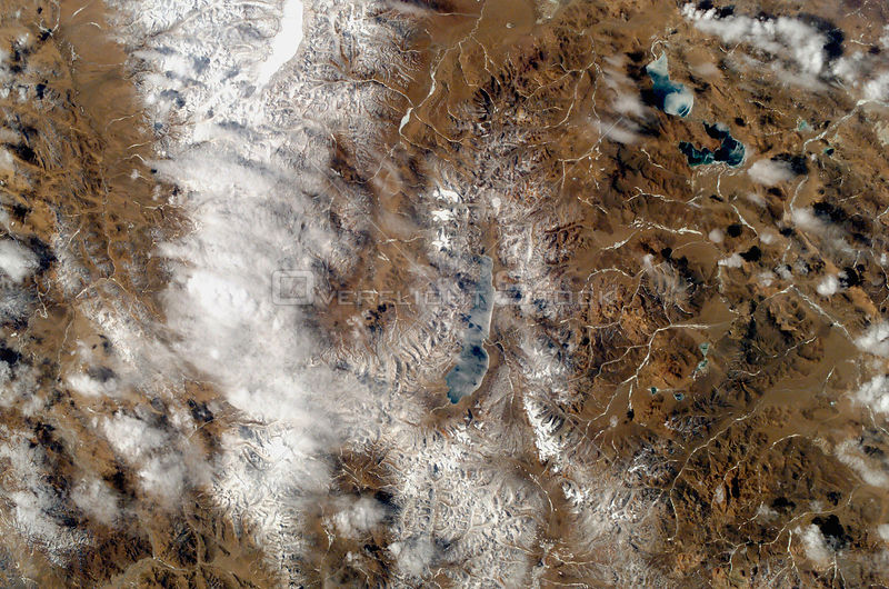 EARTH Tibet -- 2005 -- Centered near Drongba or Tradun Tse - this image shows the region of Tibet