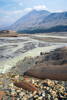 A fantastic mix of rocks at the base of the Athabasca Glacier. Jasper NP, Canadian Rockies.