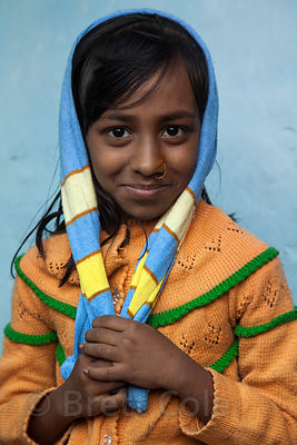Portrait of a girl in the Fakir Bagan neigborhood of Howrah, India, in an area served by the NGO Calcutta Kids (calcuttakids.org)