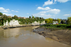 River Wye, Chepstow, Monmouthshire, South Wales.