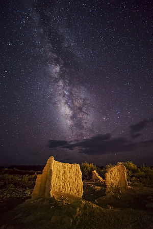 Stone Ruins and Milky Way