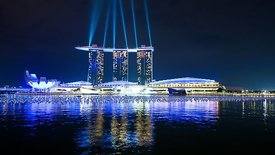 Wide Shot: Marina Bay Laser Show