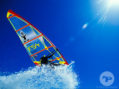 Windsurfing in Guidel, Brittany, France