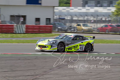 The Twisted Team Parker Ginetta G55 GT4 in action at the Silverstone 500 - the third round of the British GT Championship 2014 - 1st June 2014