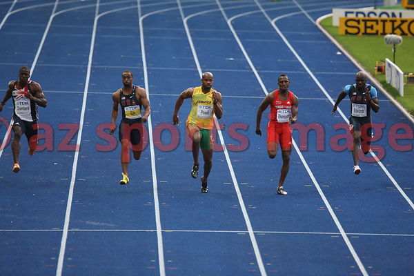 Asafa Powell (JAM),Tyson Gay (USA)