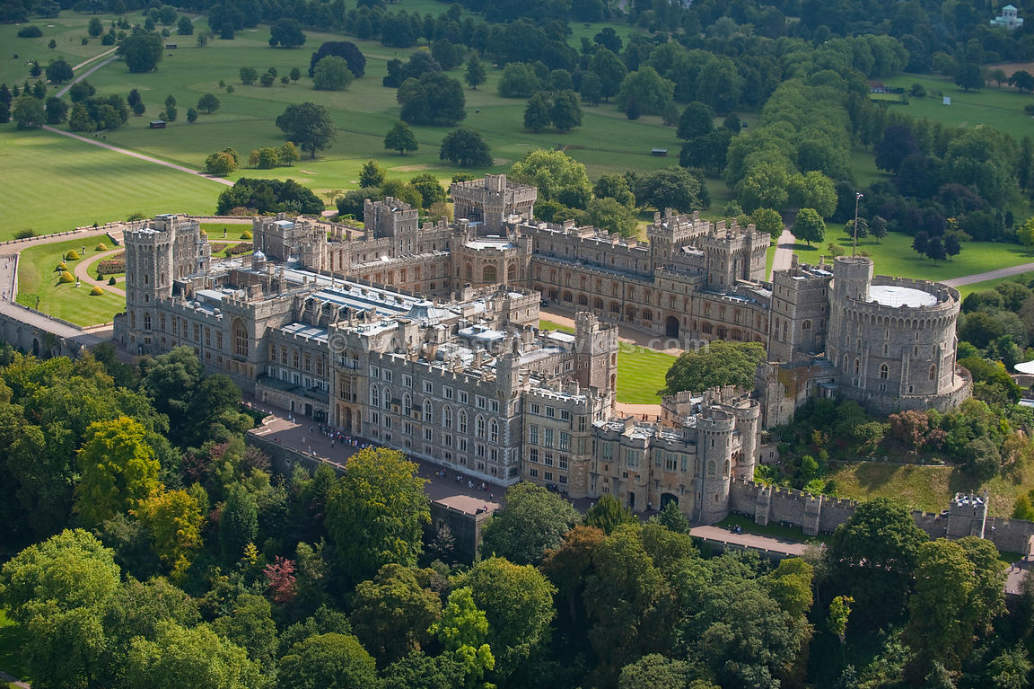 Aerial View Windsor Castle Jason Hawkes